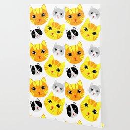 Cat Faces Wallpaper