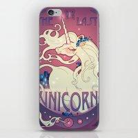 the last unicorn iPhone & iPod Skins featuring The Last Unicorn by Lara Pratt