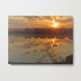 Sunrise on Meno Lake 2 Metal Print