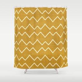 Urbana in Gold Shower Curtain