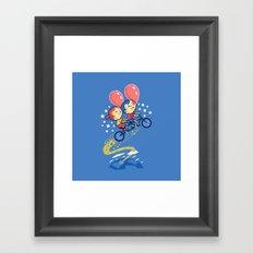Bubble Power Framed Art Print