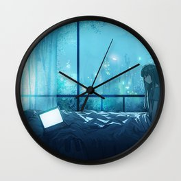 Girl Original Artwork Wall Clock