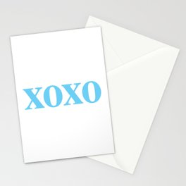Light Blue XOXO Stationery Cards