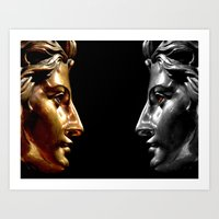 Silver and Gold Art Print