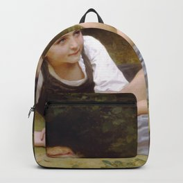 William-Adolphe Bouguereau - The Nut Gatherers Backpack