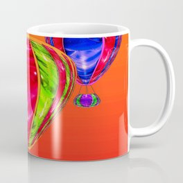 Balloons in front of evening sky ... Coffee Mug