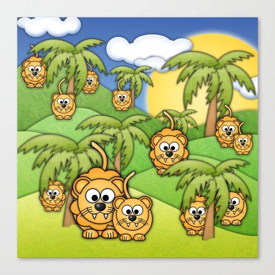 Little Lions. Canvas Print