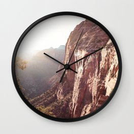 Sunset In Zion National Park Photo | Colors of Utah Landscape Nature Art Print | USA Digital Travel Photography Wall Clock