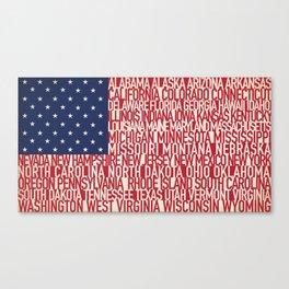 American Type Flag Canvas Print