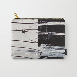 Black & White Close Up Carry-All Pouch