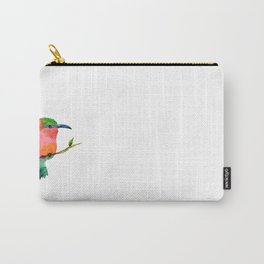 Carmine bee-eater bird Carry-All Pouch