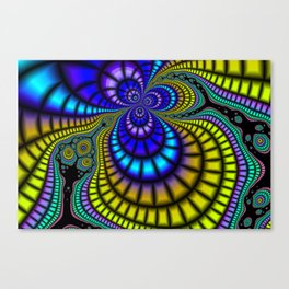 Color Phobia Fractal Canvas Print