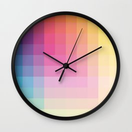"Pastel Genuine Geometric ""Troll"" Wall Clock"