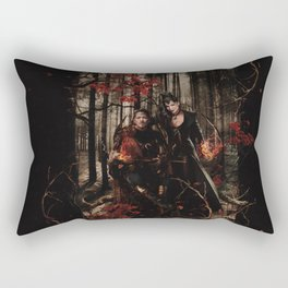 Outlaw Queen - Prince of Thieves and The Queen Rectangular Pillow