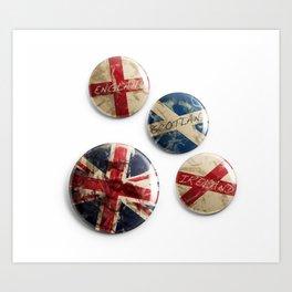 Union Flags Pins Art Print