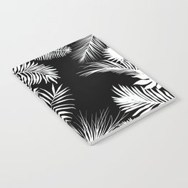 Palm Leaves In Black And White Notebook