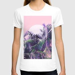 Jungle Sunrise - Ultra violet, green, pink and purple T-shirt