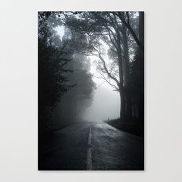Smokey road Canvas Print