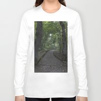 italian Long Sleeve T-shirts featuring Italian forest by F130284