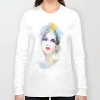 decorative Long Sleeve T-shirts featuring 	decorative by tatiana-teni