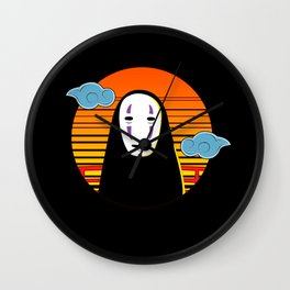 No Face a Lonely Spirit Wall Clock
