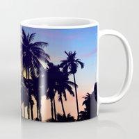 palm tree Mugs featuring palm tree by mark ashkenazi