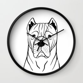 Cane Corso (Black and White) Wall Clock