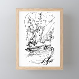 Drawing the Line Framed Mini Art Print
