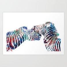 Technicolor fight  Art Print
