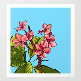 Plumeria Bunch Art Print