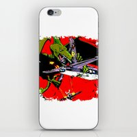 kaiju iPhone & iPod Skins featuring Kaiju Attack by sasha alexandre keen