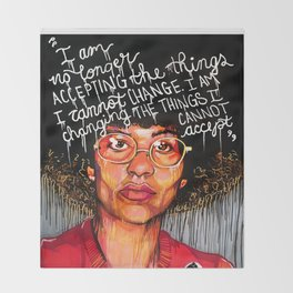 Angela Davis Throw Blanket