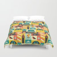mary poppins Duvet Covers featuring Mary Poppins by Ariel Wilson