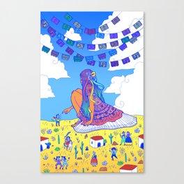 Adelita Y El Pueblo de Calaveras Canvas Print
