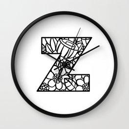 Letter Z Wall Clock