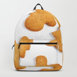 Cookies in shape of Christmas tree, man and star Backpack