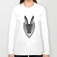 badger Long Sleeve T-shirts featuring Badger by Watch House Design