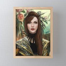 Regal - Royal portriat of an empress Framed Mini Art Print