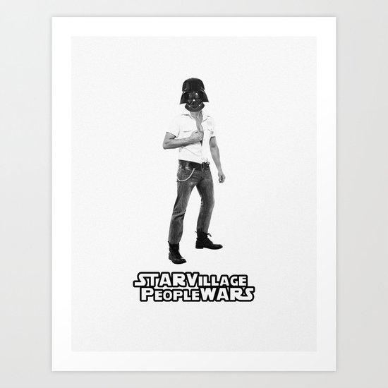 Star Village People Wars Art Print