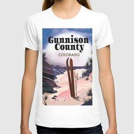 Gunnison County Colorado Ski T-shirt