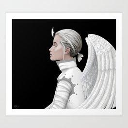 Contemplative Angel Art Print