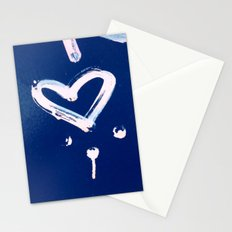 White Heart Stationery Cards