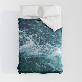 Water Currents In Turquoise Blue Pond Comforters