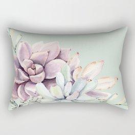 Beautiful Mint Succulents Rectangular Pillow
