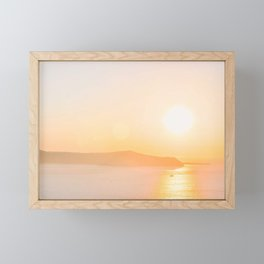 470. Famous Sunset, Fira, Santorini, Greece Framed Mini Art Print