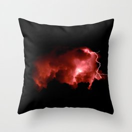 Lightning Strikes Throw Pillow