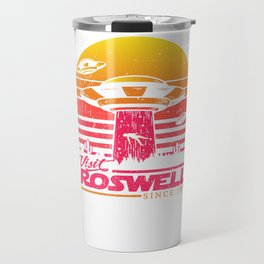 Roswell UFO conspiracy theory Area 51 gift Travel Mug