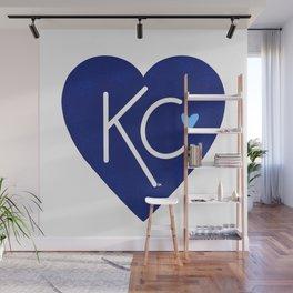 KC Love Navy & Blue Wall Mural