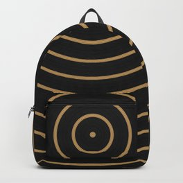Gold Sphere Design Backpack