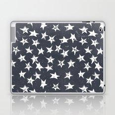 Linocut Stars - Navy & White Laptop & iPad Skin